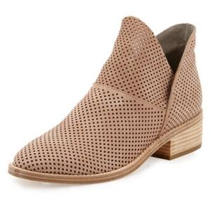 Eileen Fisher Perforated Leather Booties Size 7.5